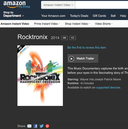 The RockTronix on Amazon Instant Videos