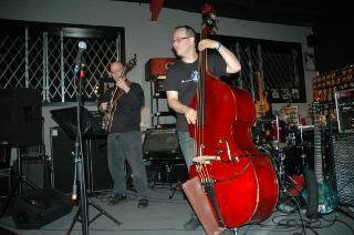 Dan Baraszu and Joseph Patrick Moore at the Atlanta Bass Gallery