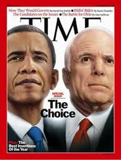 Barack Obama and John McCain Time Magazine
