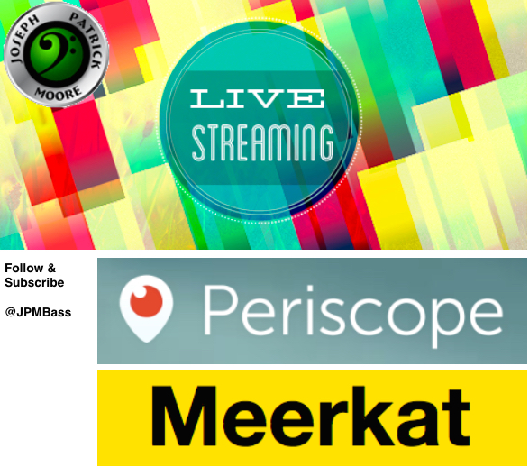 Recording Artist Joseph Patrick Moore live streaming on Periscope and Meerkat