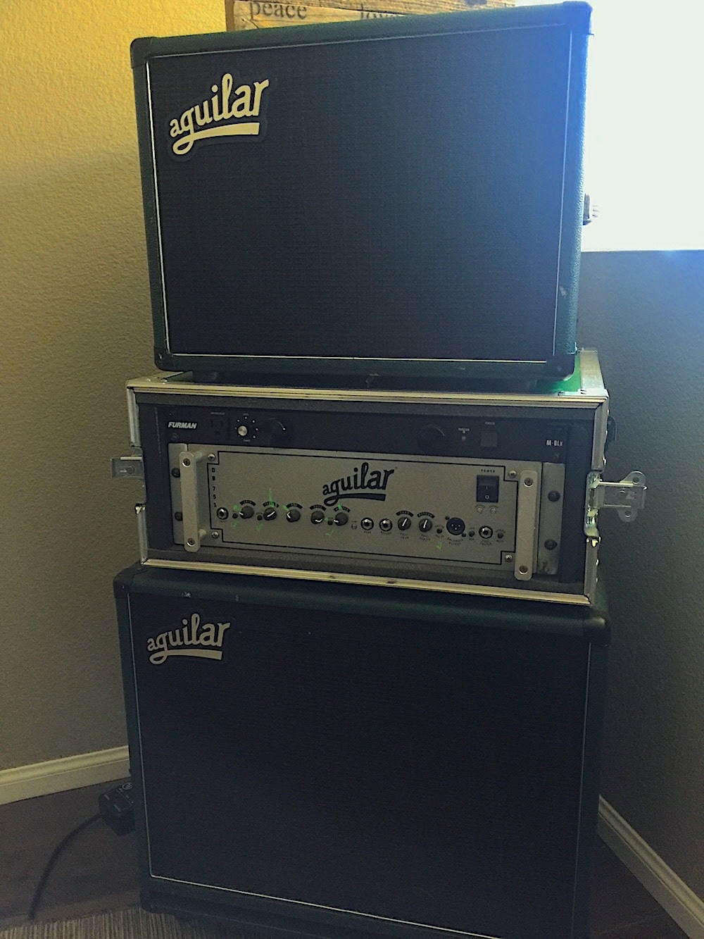 Joseph Patrick Moore's Live Aguilar Bass Rig