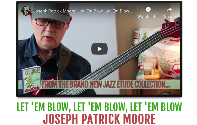 Joseph Patrick Moore performs a bebop jazz Christmas favorite